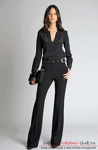 Создаём яркие женские брюки собственными руками