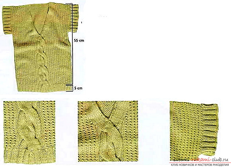 Вязание женского жилета спицами. Схема и фото жилета для женщин своими руками для начинающих вязальщиц. Фото №2