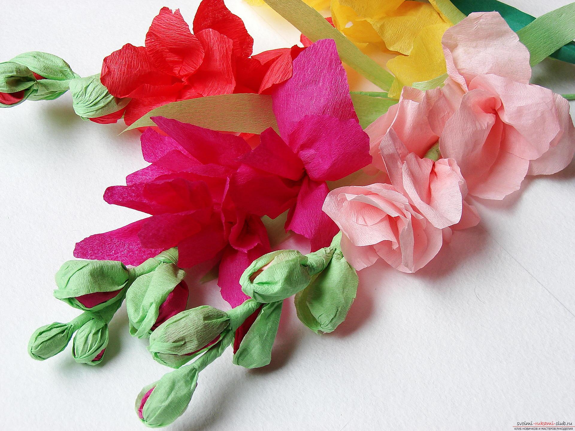Этот мастер-класс научит как сделать цветы гладиолусы из бумаги своими руками.. Фото №34