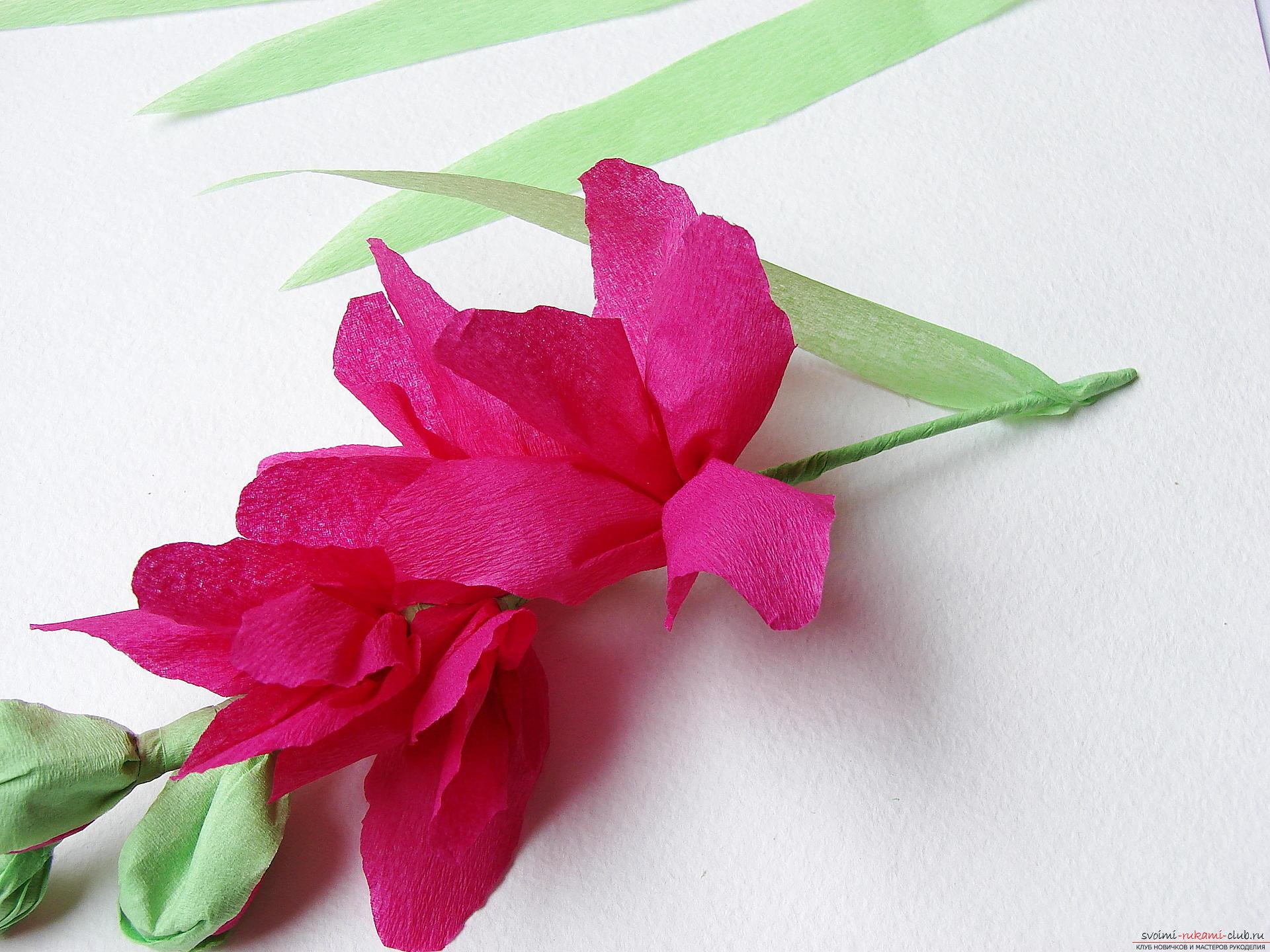 Стебель цветка из бумаги своими руками