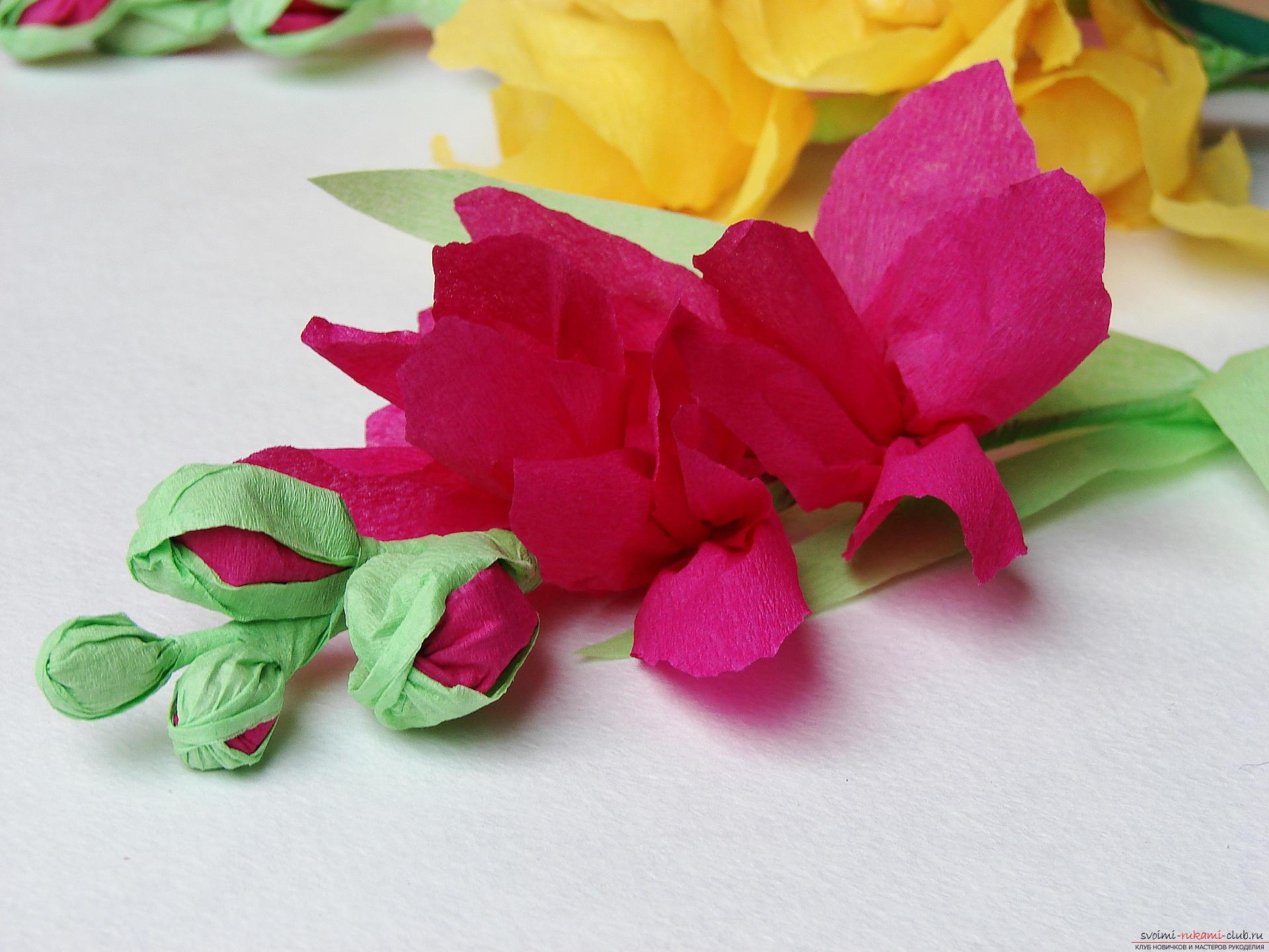 Этот мастер-класс научит как сделать цветы гладиолусы из бумаги своими руками.. Фото №33