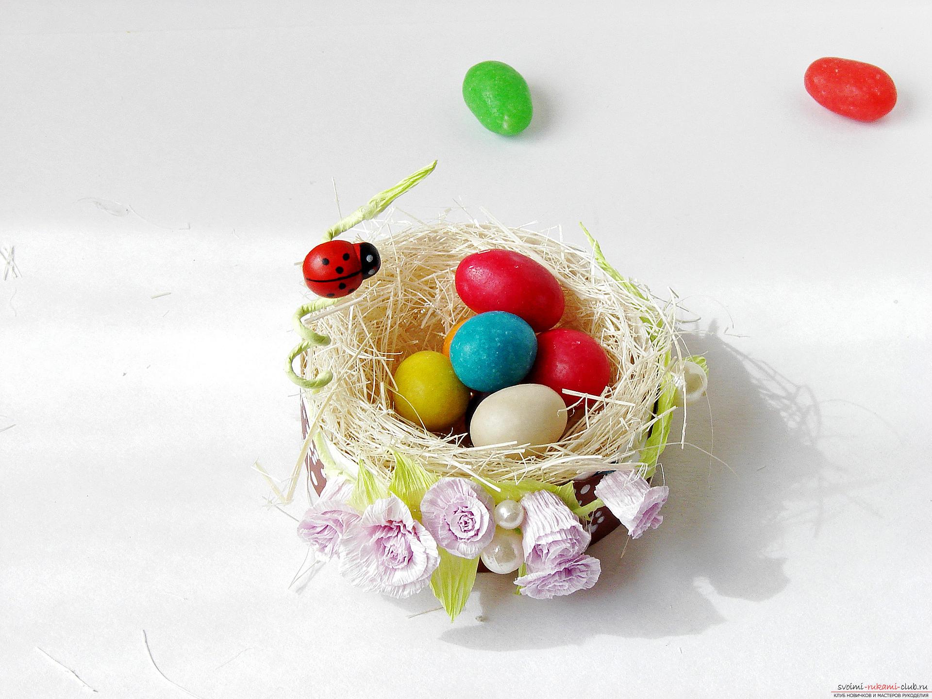 Этот подробный мастер-класс с фото и описанием научит как сделать подставки для пасхальных яиц своими руками.. Фото №33