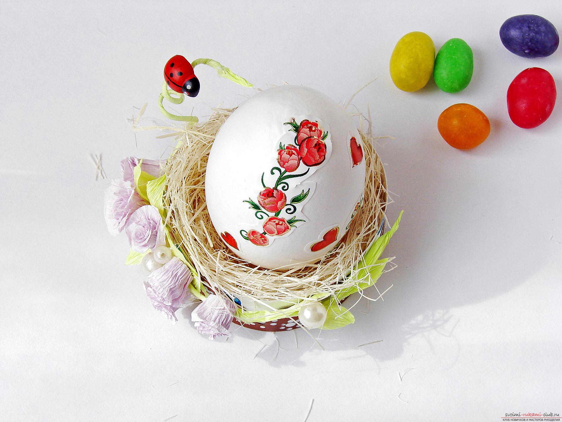 Этот подробный мастер-класс с фото и описанием научит как сделать подставки для пасхальных яиц своими руками.. Фото №29