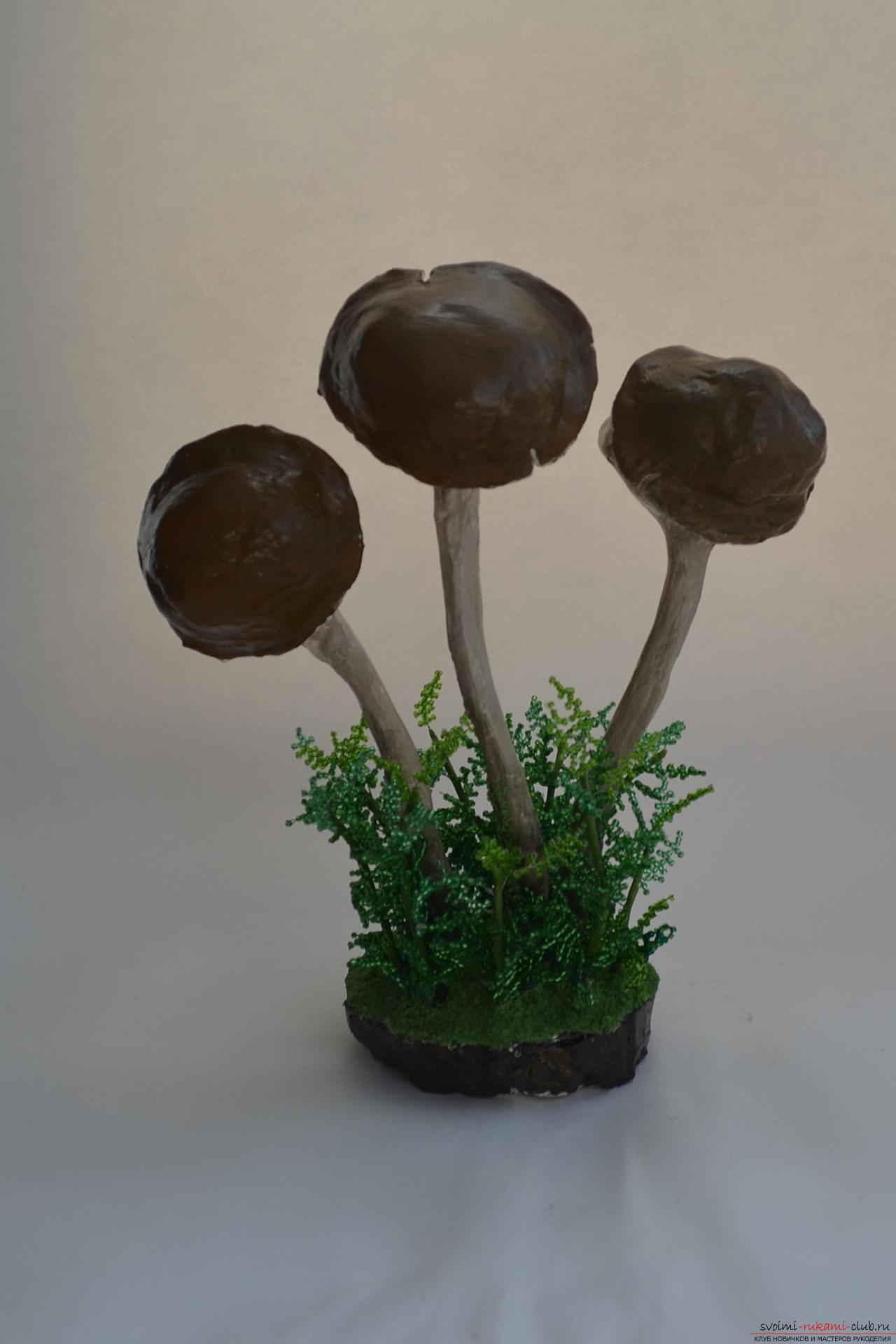 Как сделать из глины гриб