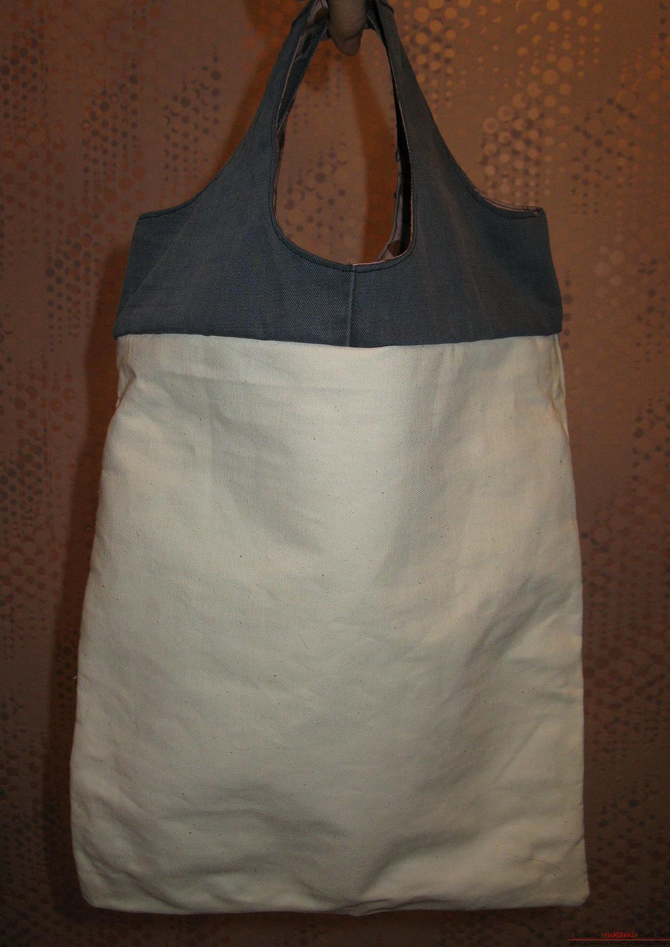 Пошаговые фото к уроку по пошиву хозяйственной сумки. Фото №15