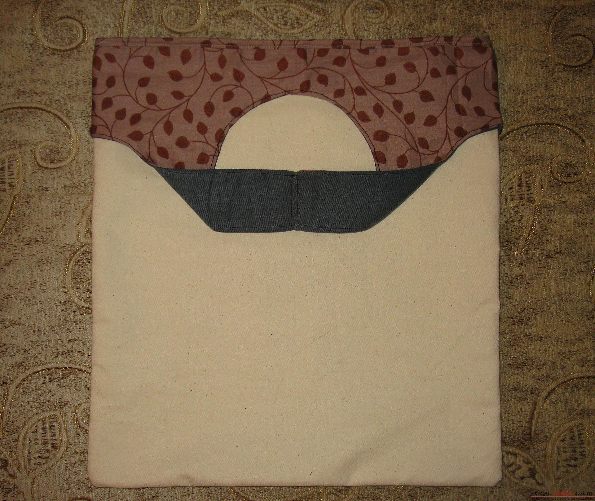 Пошаговые фото к уроку по пошиву хозяйственной сумки. Фото №14