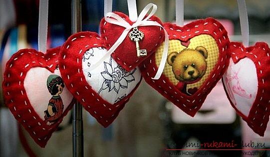 Игрушки своими руками сердце фото