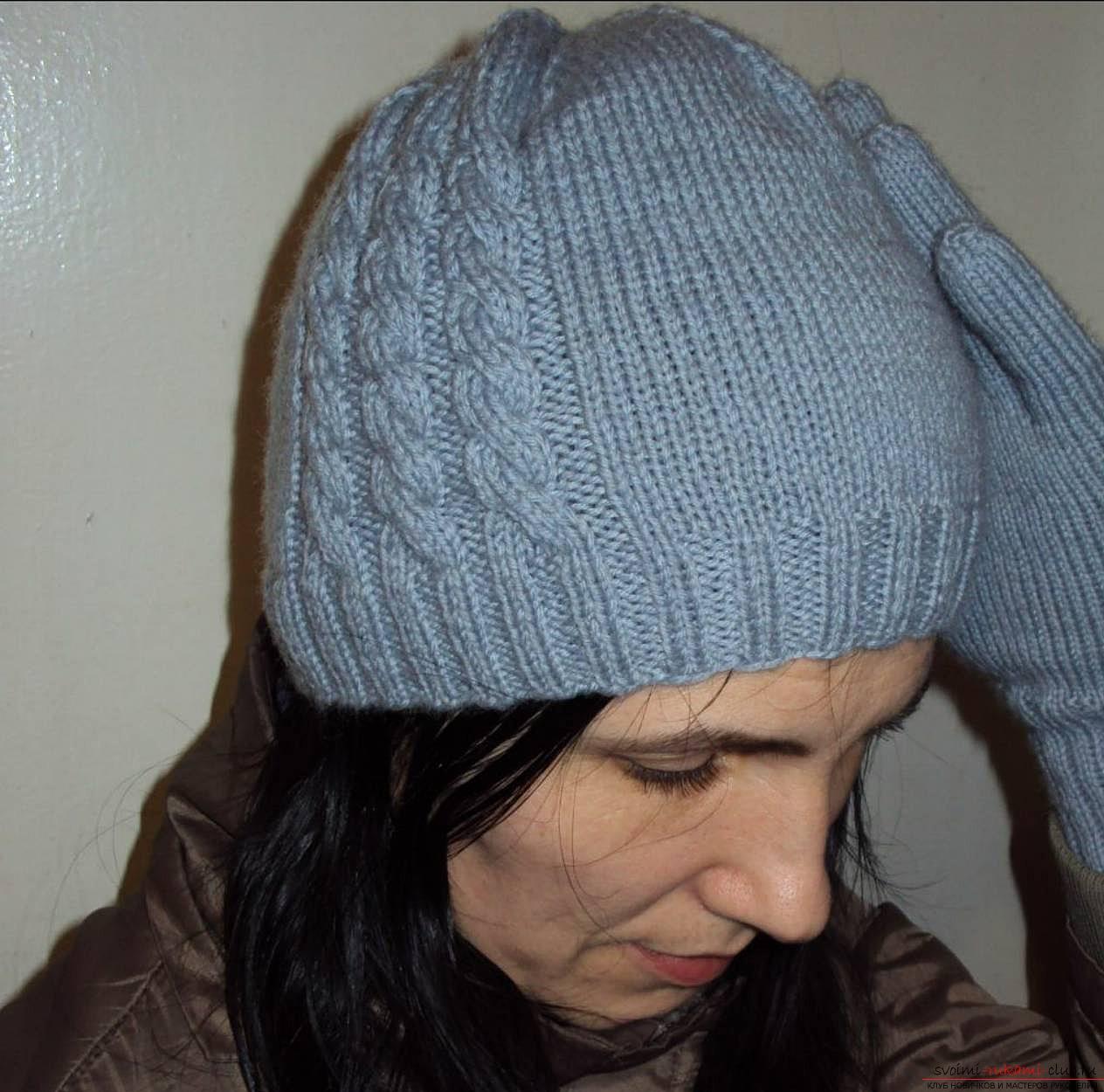 Вяжем шапку спицами своими руками