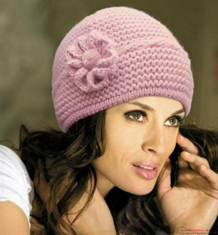 вязание шапок спицами для детей схемы