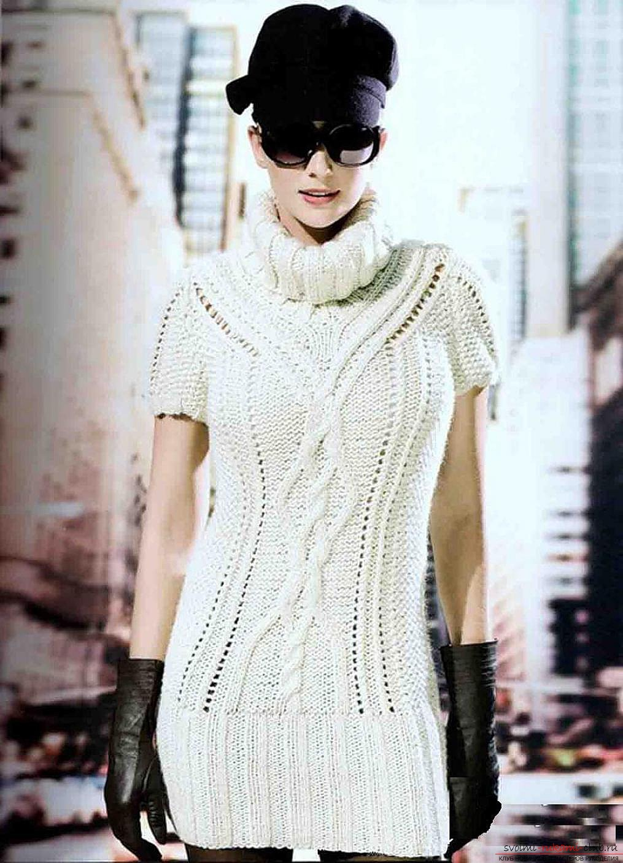 Вязание платья и туник спицами
