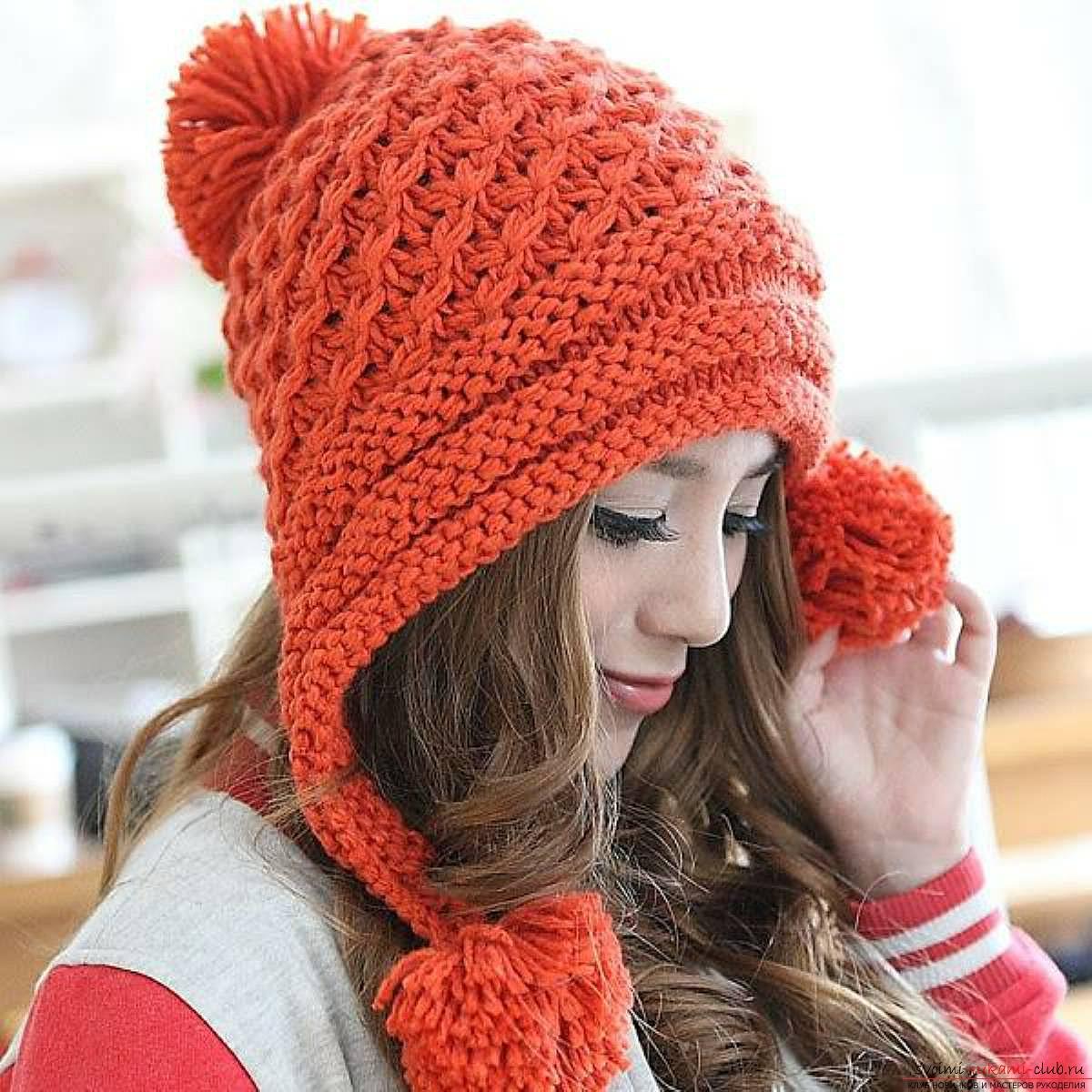 Вязание шапка женская схема и описание