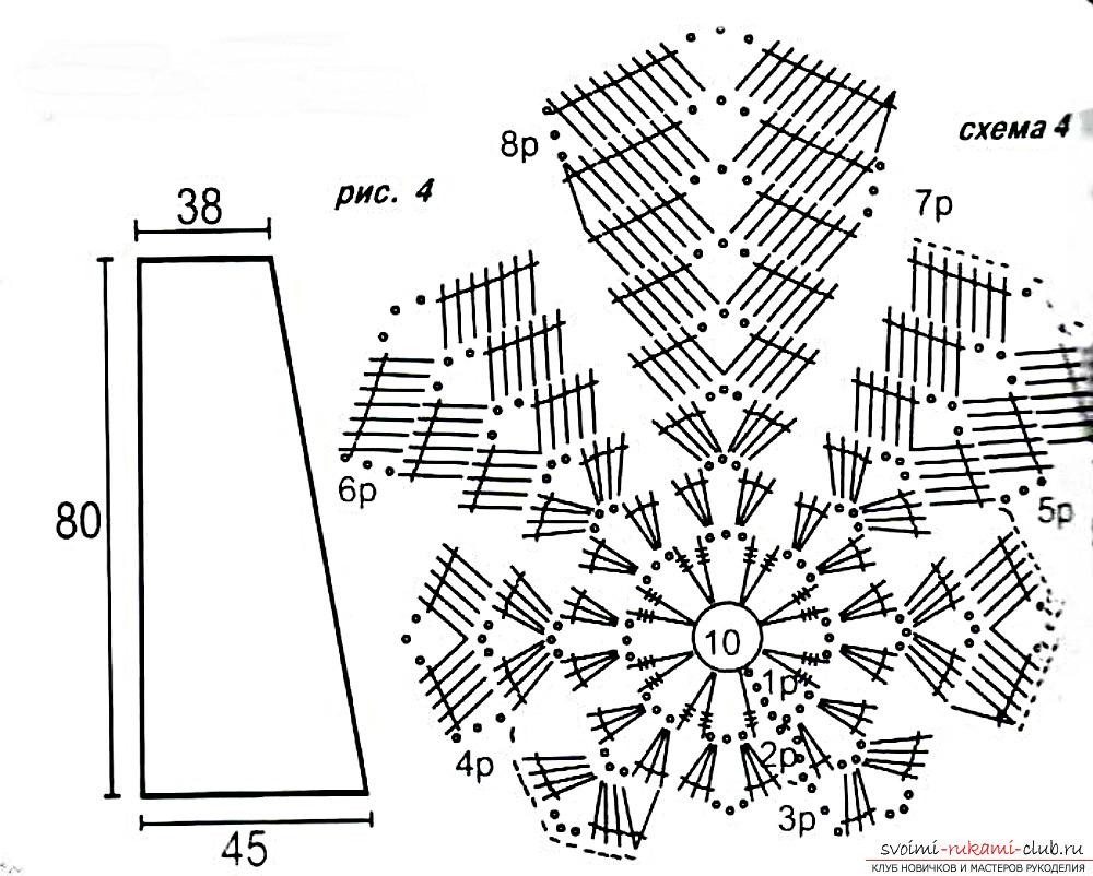 Вязание крючком кленового листа схемы 15