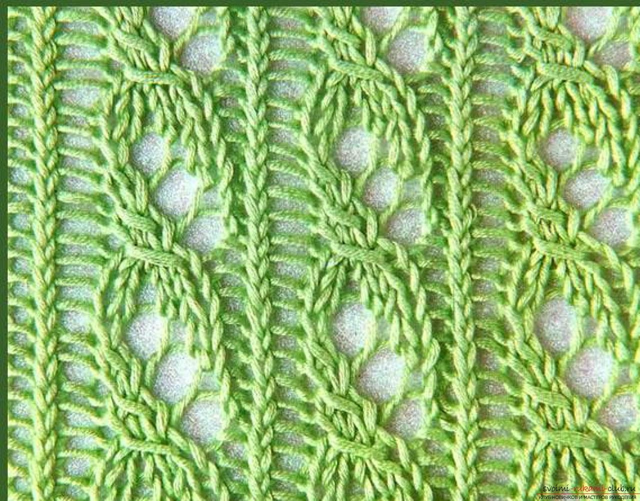 Узоры для вязания шалей спицами 39