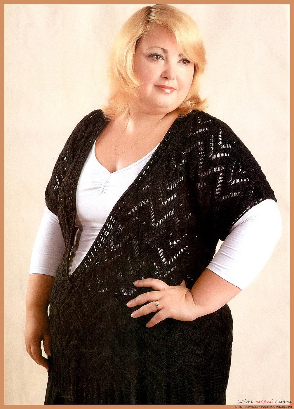 схемы вязания на спицах жилета для женщин
