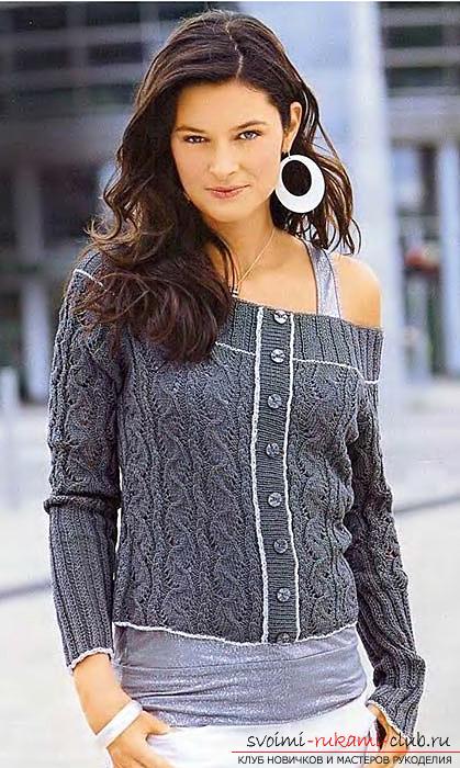 интересная модель пуловера