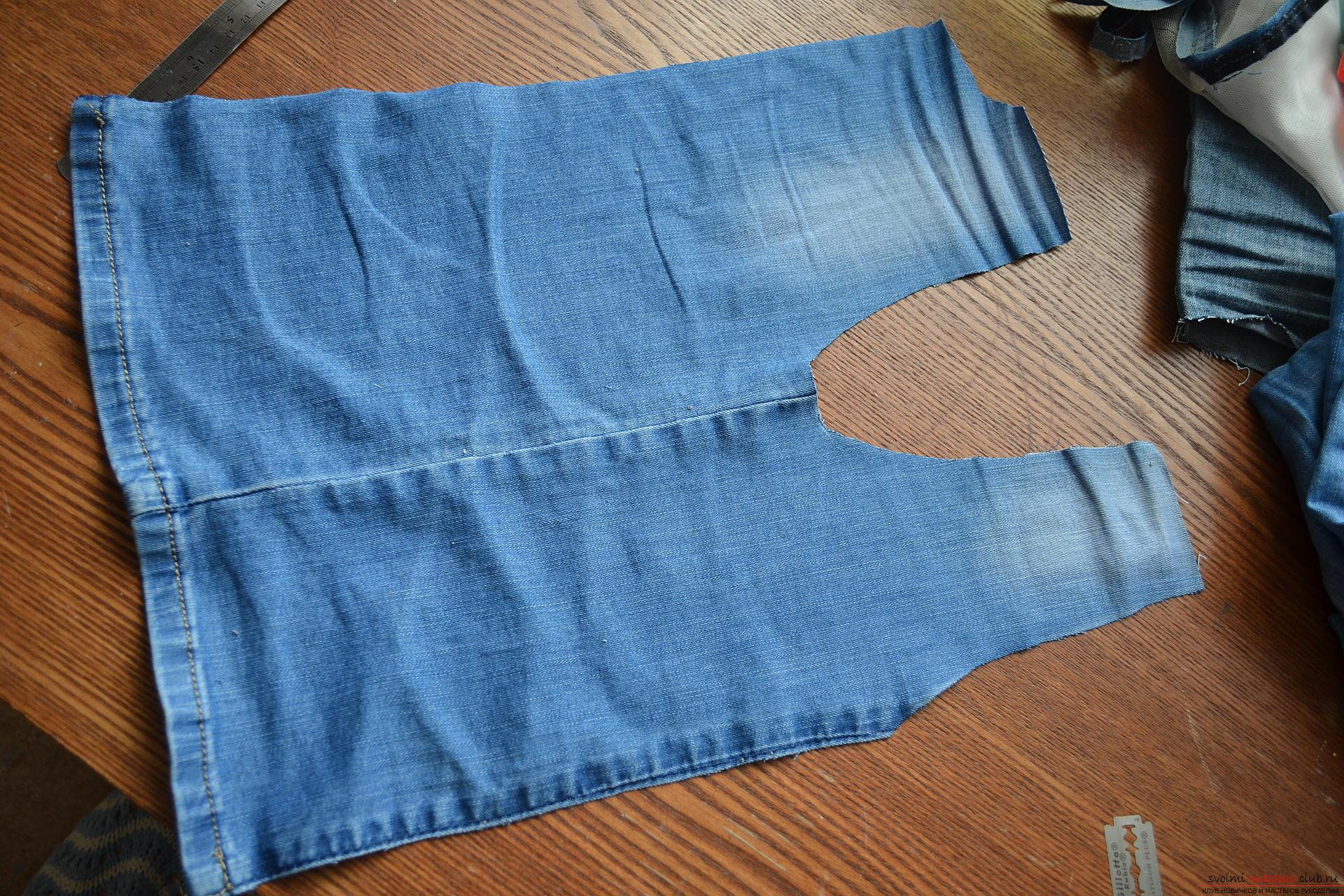 Как сшить из старых джинсов