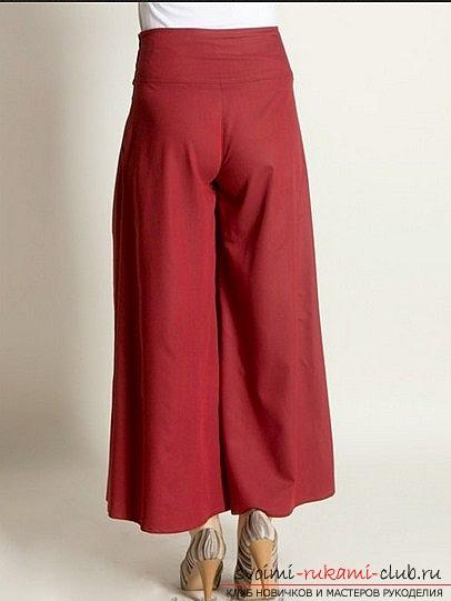 Сшить юбку брюки летнюю