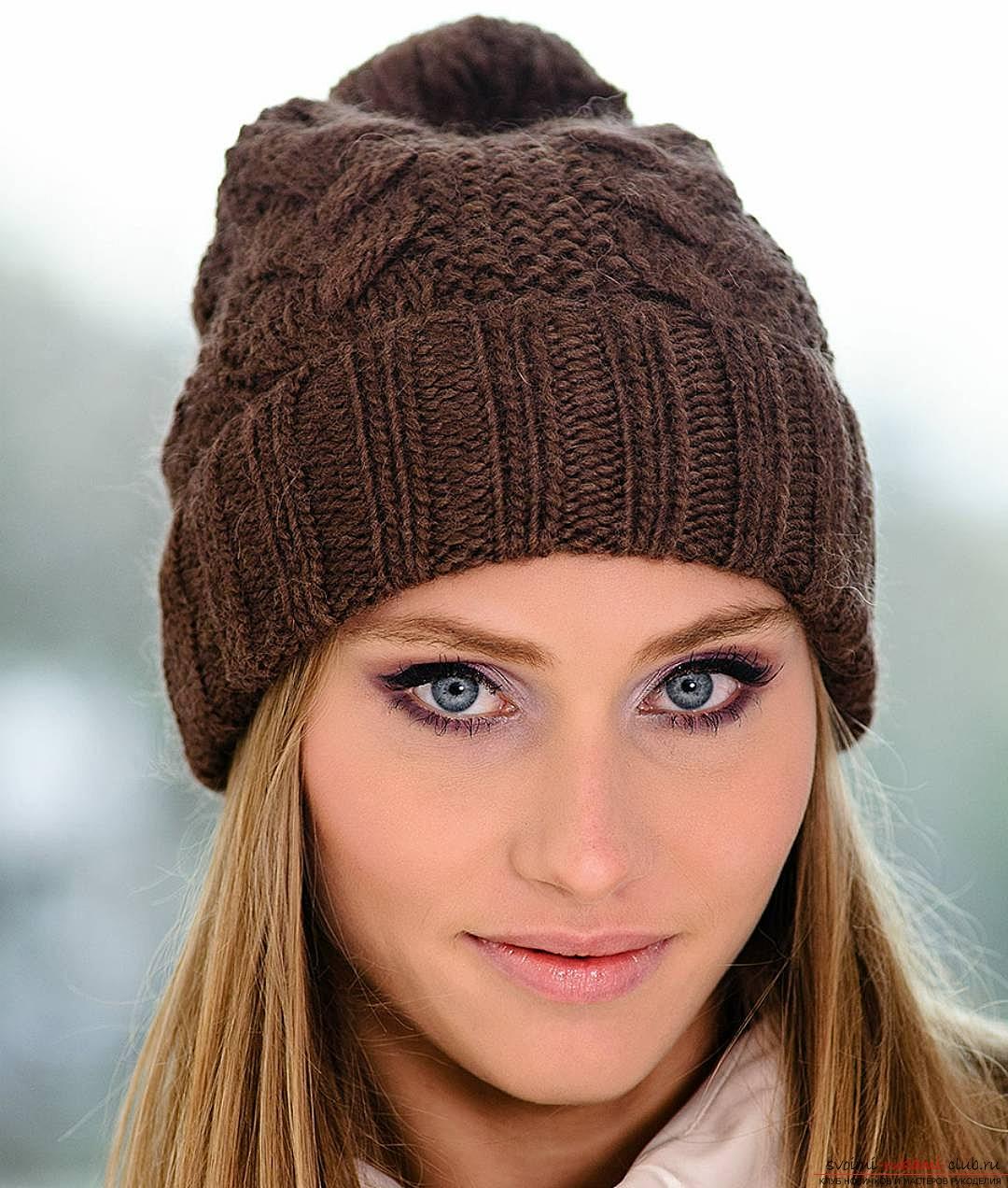 Универсальная шапка на спицах. Фото №4