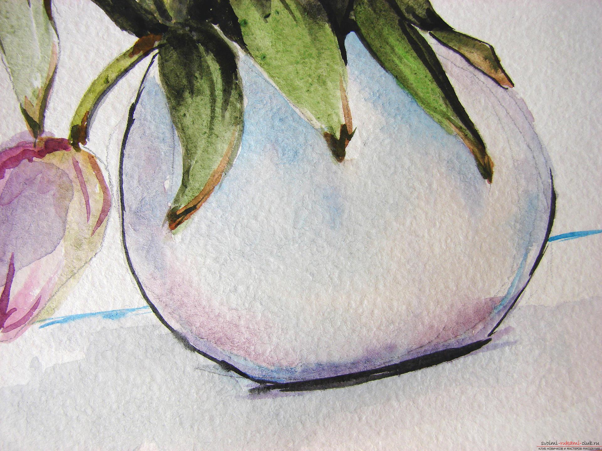 Мастер-класс по рисованию с фото научит как нарисовать цветы, подробно описав как рисуются тюльпаны поэтапно.. Фото №23