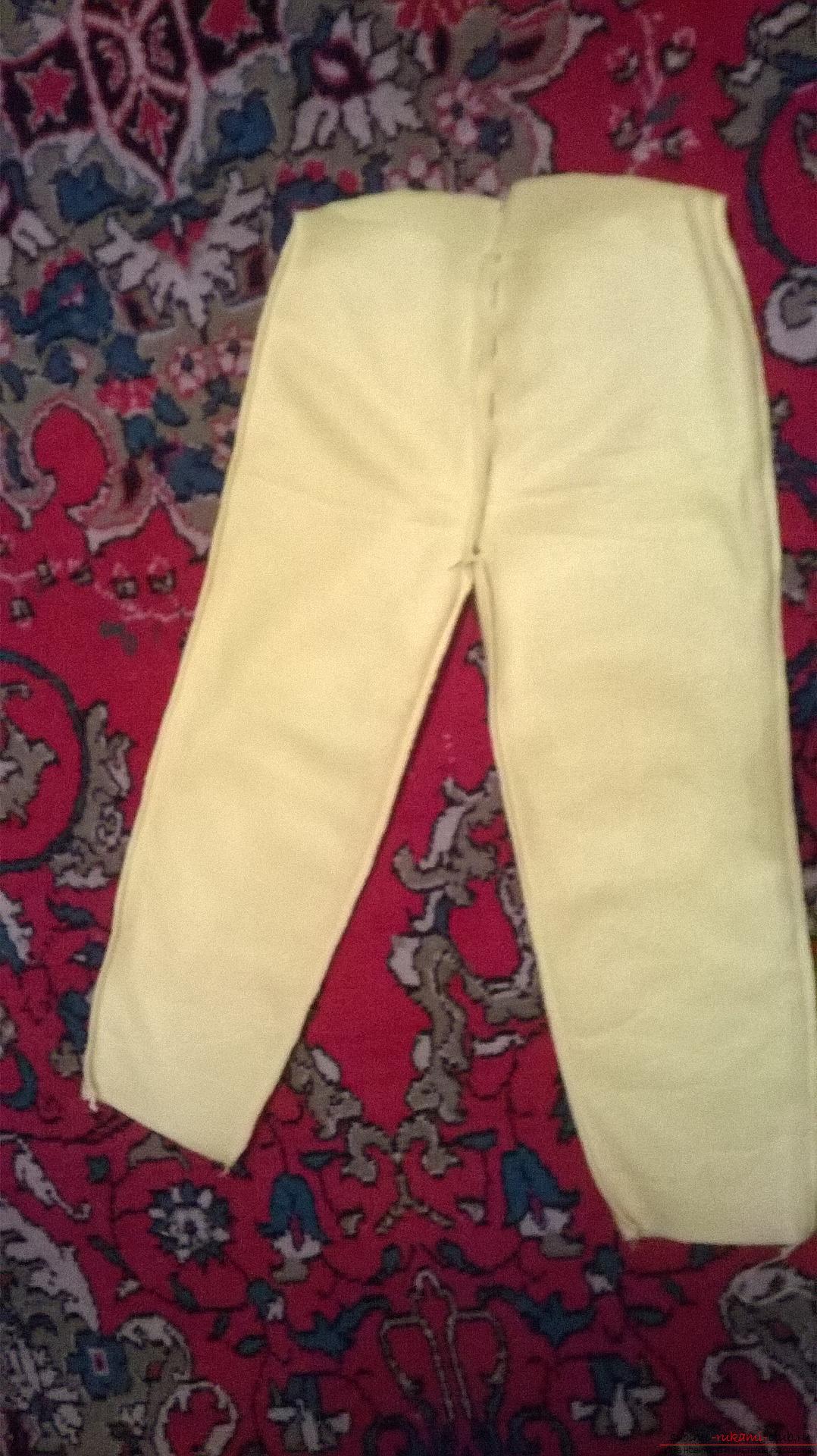 Подробный мастер-класс научит как сшить штаны для ребенка своими руками быстро и просто, без выкройки.. Фото №6