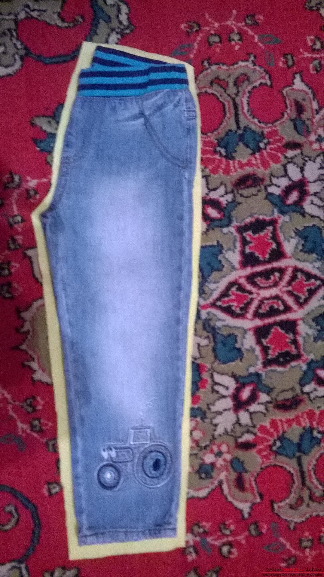 Подробный мастер-класс научит как сшить штаны для ребенка своими руками быстро и просто, без выкройки.. Фото №2