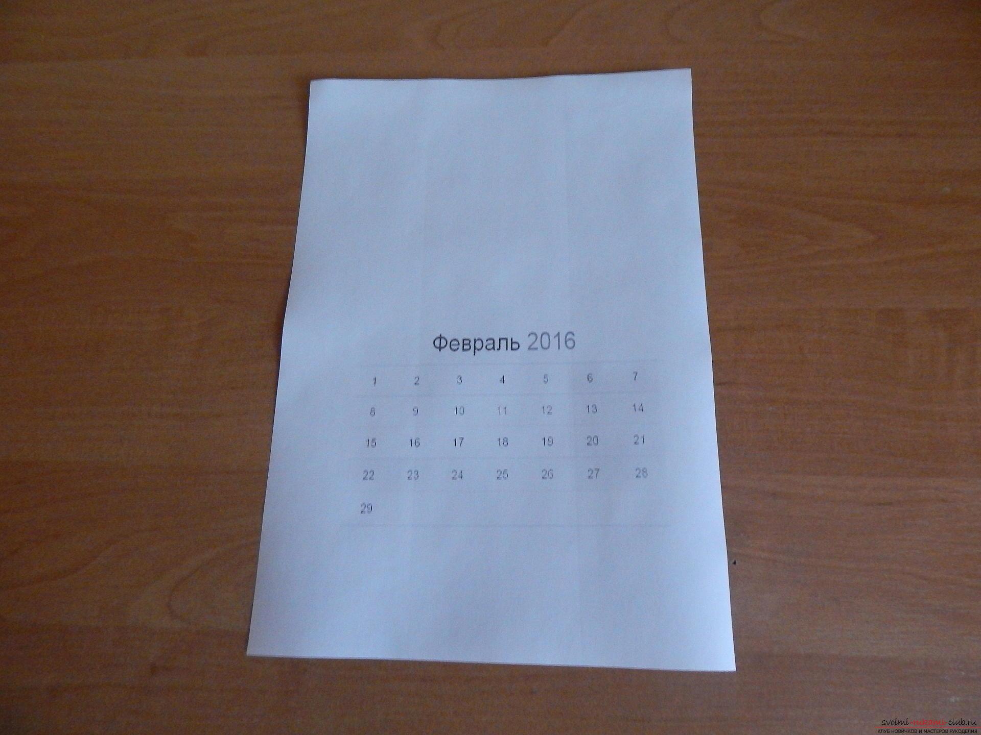 Этот подробный мастер-класс научит как сделать своими руками календарь - подарок на День влюбленных. Фото №3