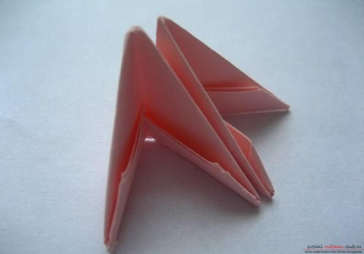 модульное оригами ромашка. Фото №12
