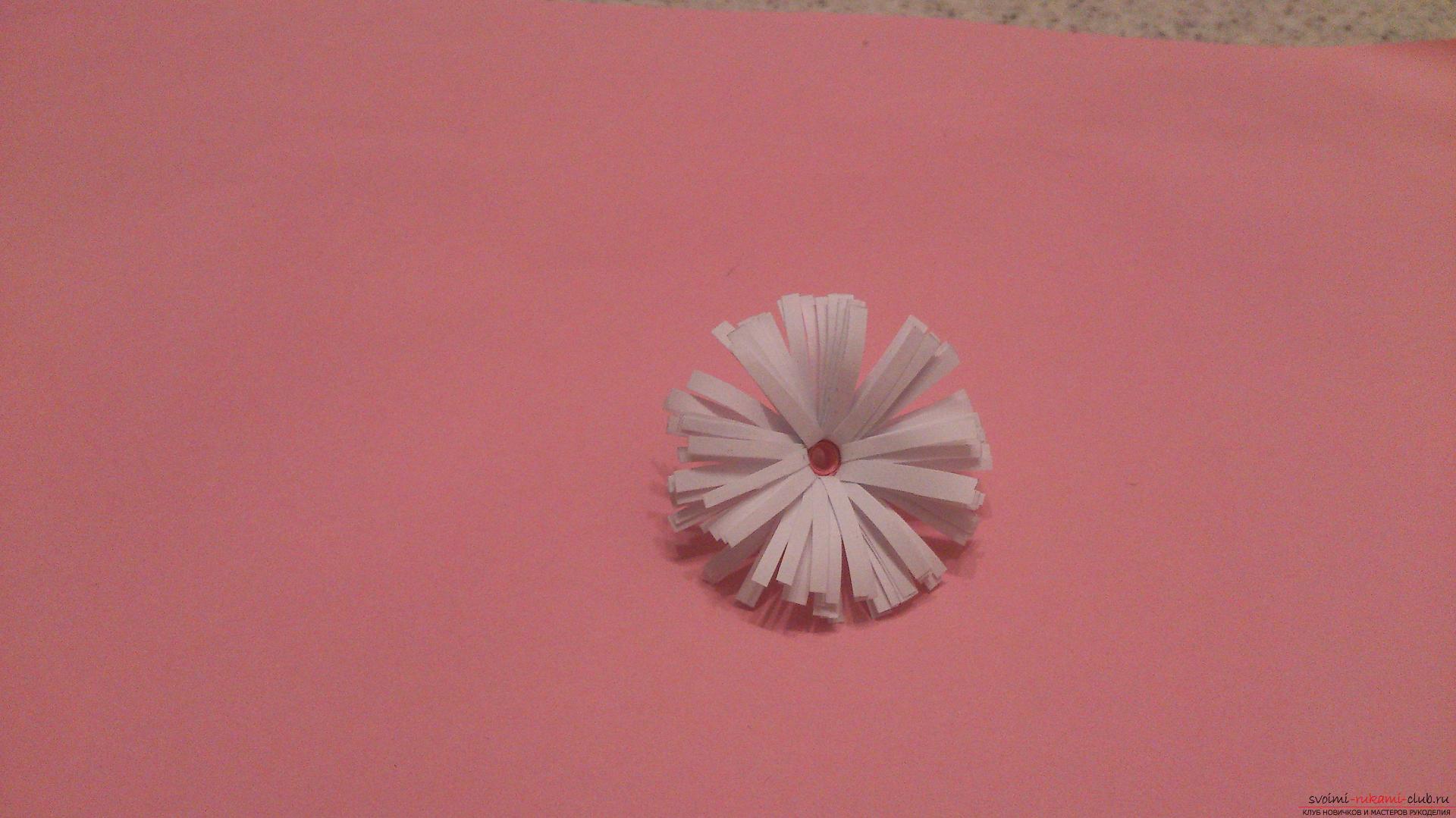 Поделки в технике бумагопластики очень разнообразны, предлагаем сделать картину из цветов, а цветы из бумаги изготовим своими руками.. Фото №21