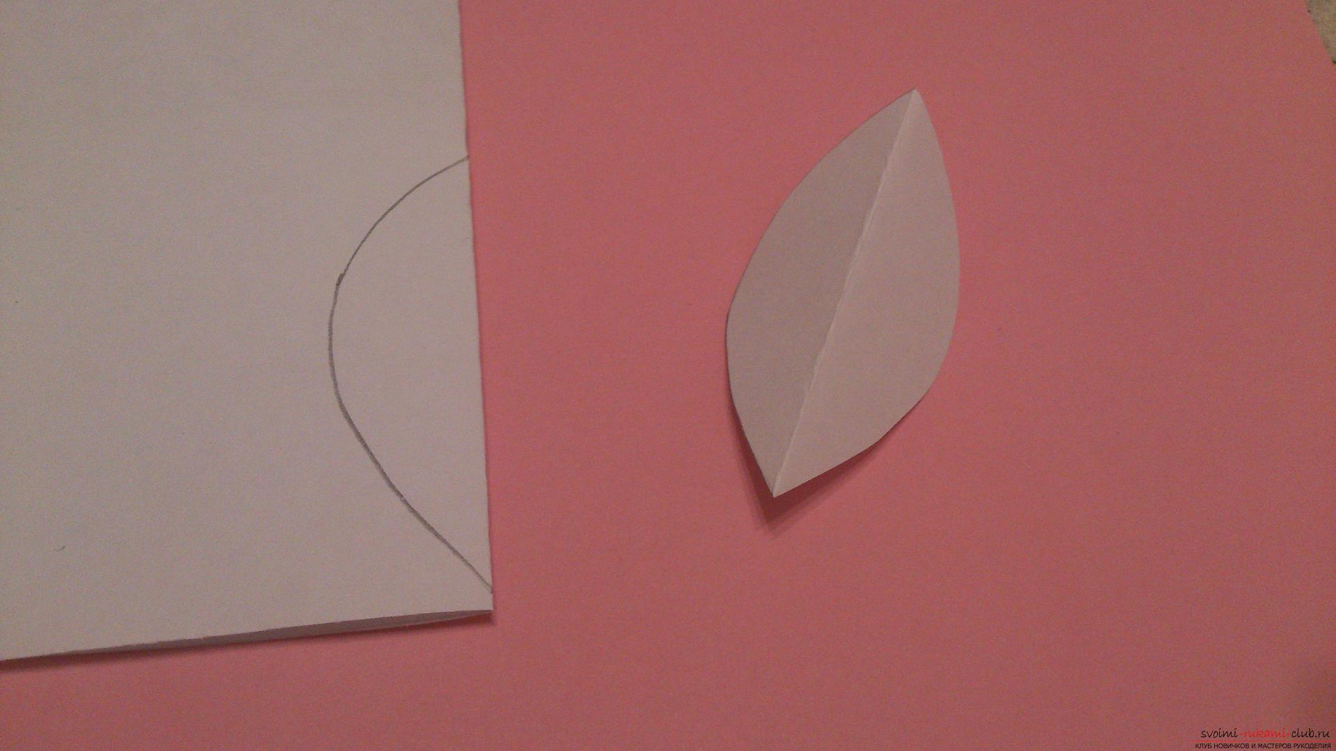 Поделки в технике бумагопластики очень разнообразны, предлагаем сделать картину из цветов, а цветы из бумаги изготовим своими руками.. Фото №22
