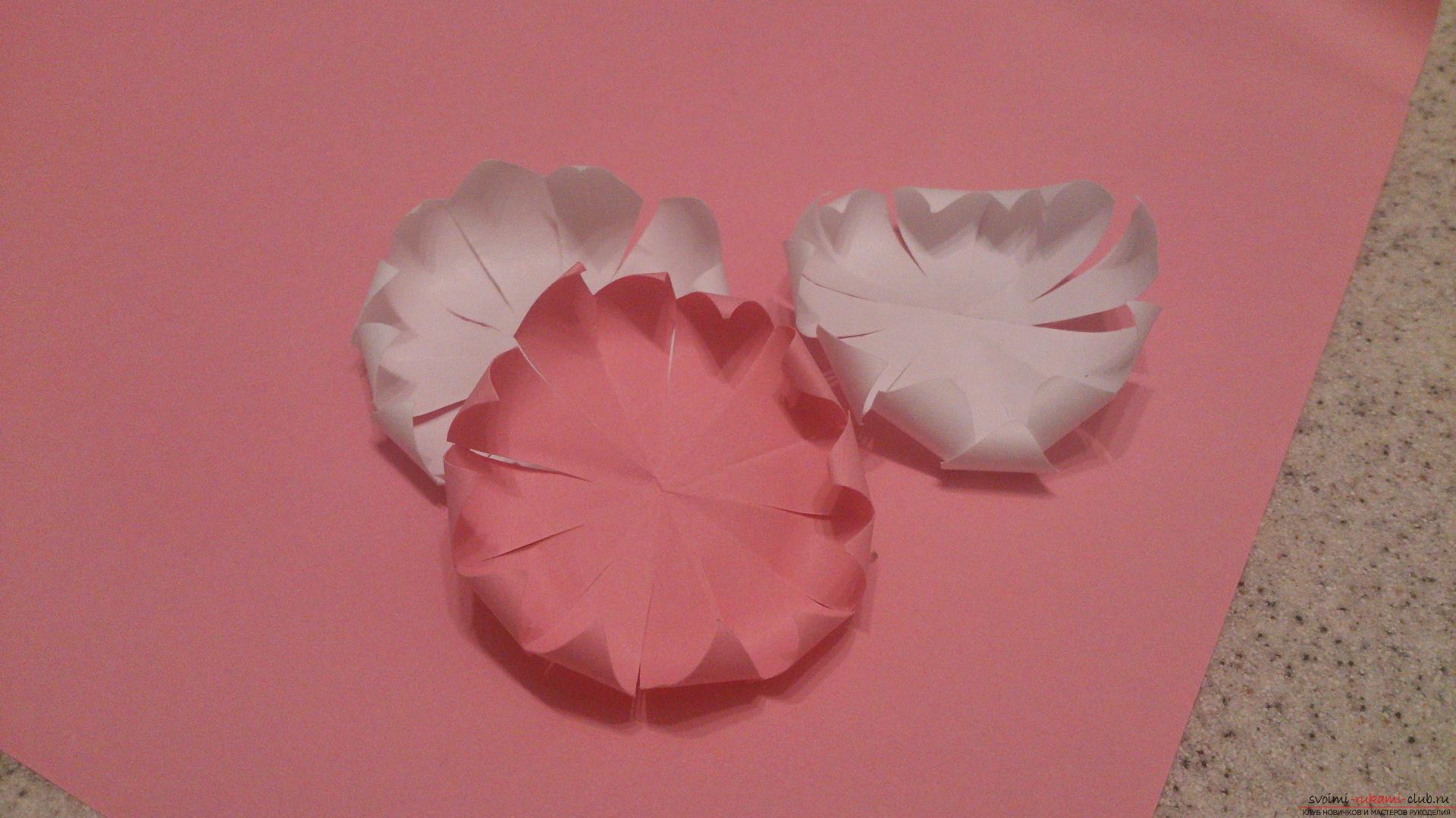 Поделки в технике бумагопластики очень разнообразны, предлагаем сделать картину из цветов, а цветы из бумаги изготовим своими руками.. Фото №9