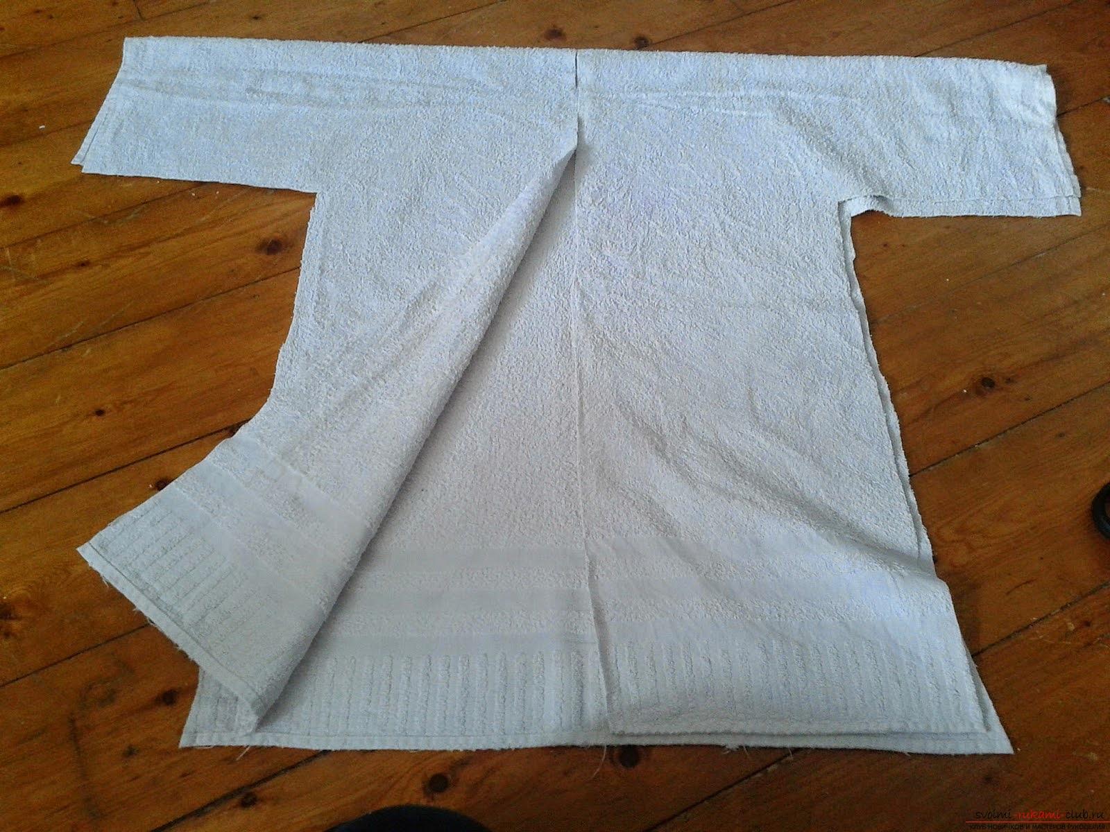 Сшить махровый халат из простыни