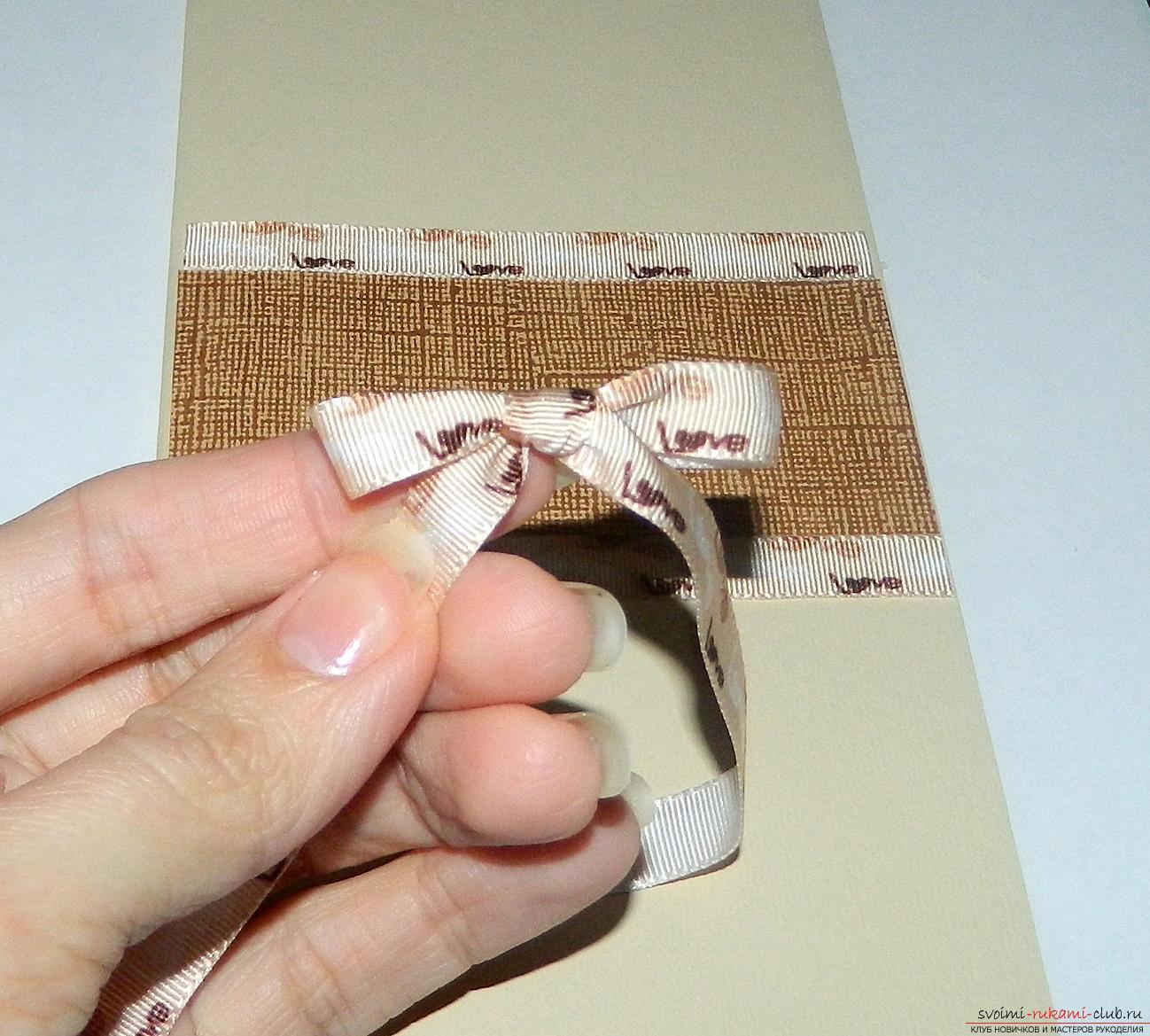 Этот мастер-класс научит как сделать классическую открытку с днем рождения своими руками.. Фото №5