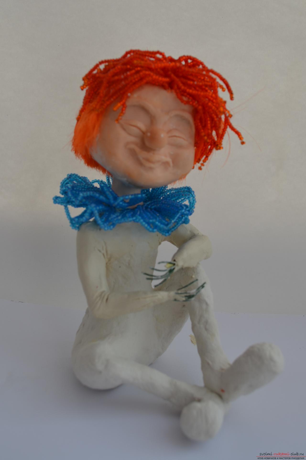 Игрушка клоун сделанная своими руками
