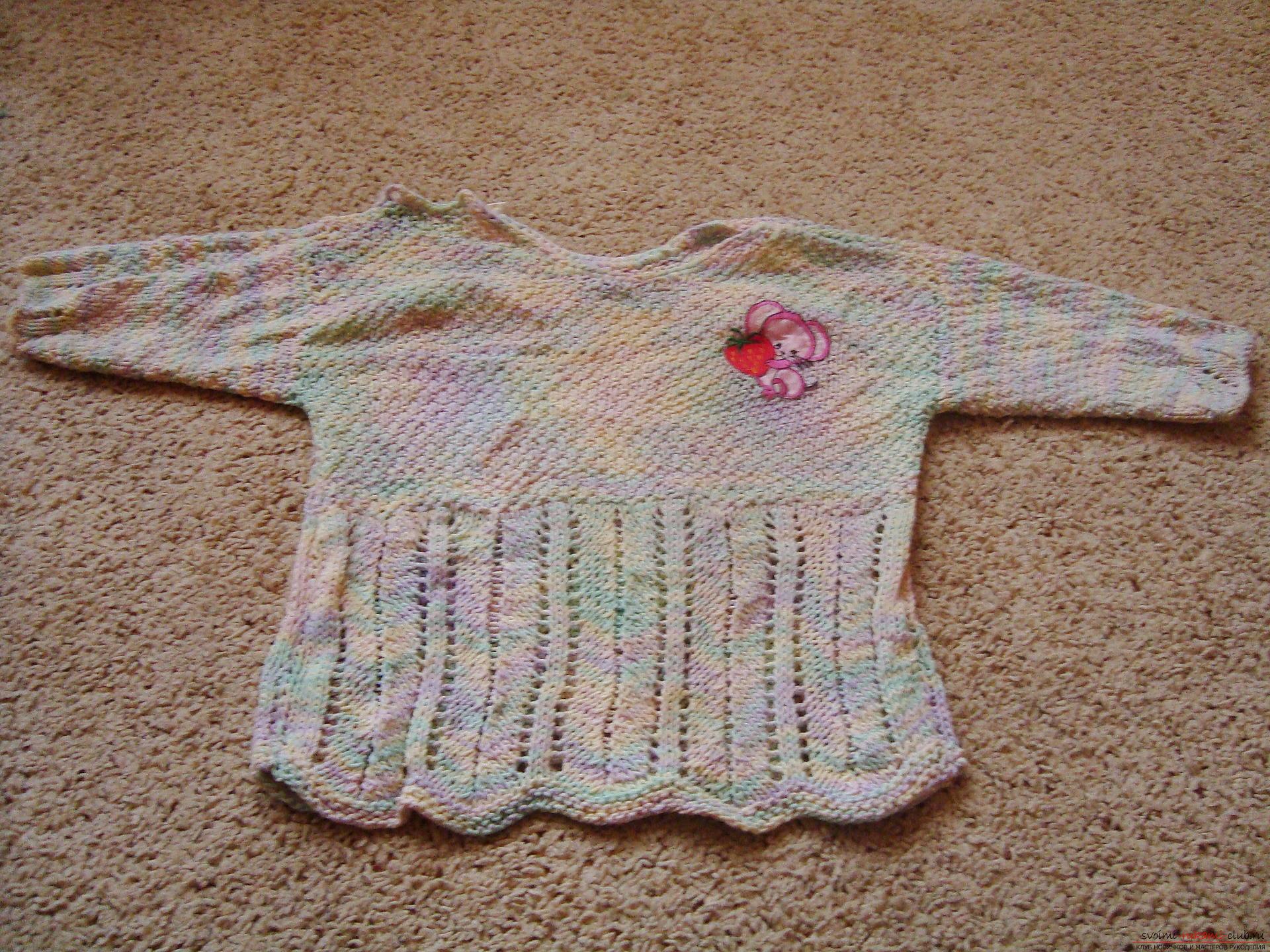 Фотографии к уроку по вязанию на спицах кофты для девочки. Фото №1