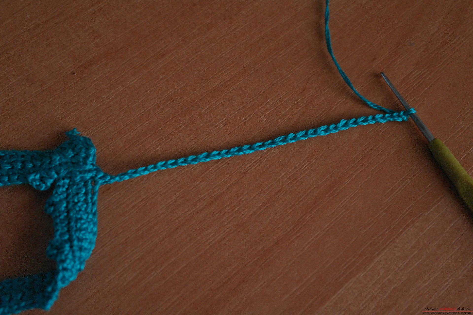 Этот подробный мастер-класс с фото и описанием расскажет как создать своими руками вязаное колье крючком.. Фото №24