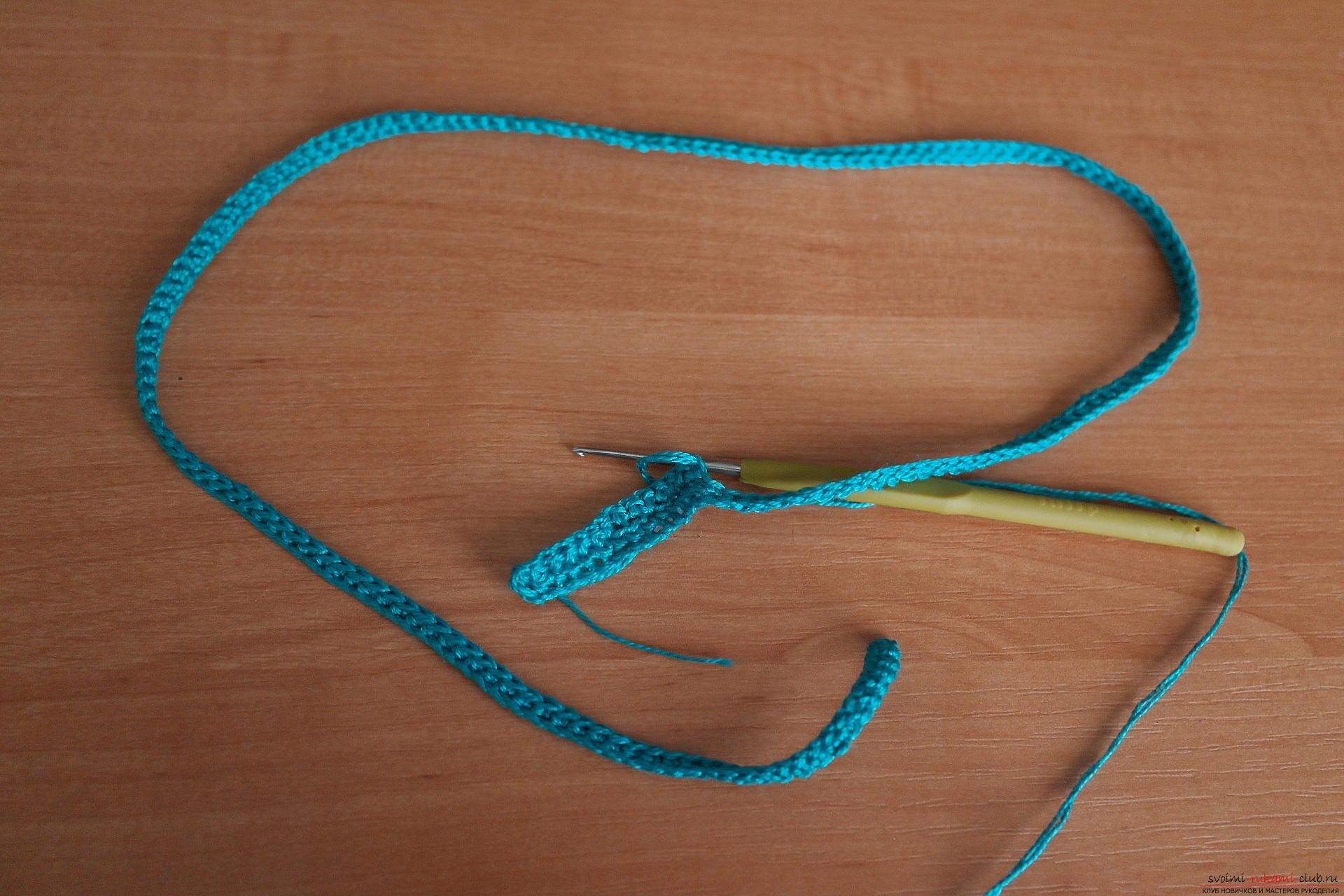 Этот подробный мастер-класс с фото и описанием расскажет как создать своими руками вязаное колье крючком.. Фото №20