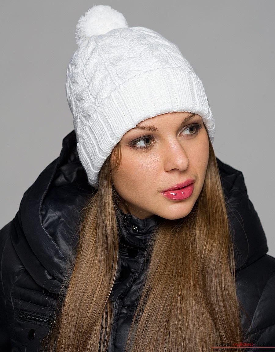 вязание спицами модные женские шапки схемы
