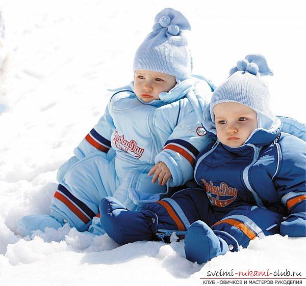 Как сшить теплый зимний комбинезон для ребенка по профессиональной выкройке.</p> </div> <p> Рекомендации по пошиву и выбору ткани для детского зимнего комбинезона. Фото №1″/></p> <p>Ткань для комбинезона нужно выбирать плотную, желательно с пропиткой, предохраняющую от поступления влаги. А на подкладку можно использовать синтепон или овечью шерсть.</p> <p> В таком комбинезончике малыш никогда не замерзнет.</p> <p><div style=