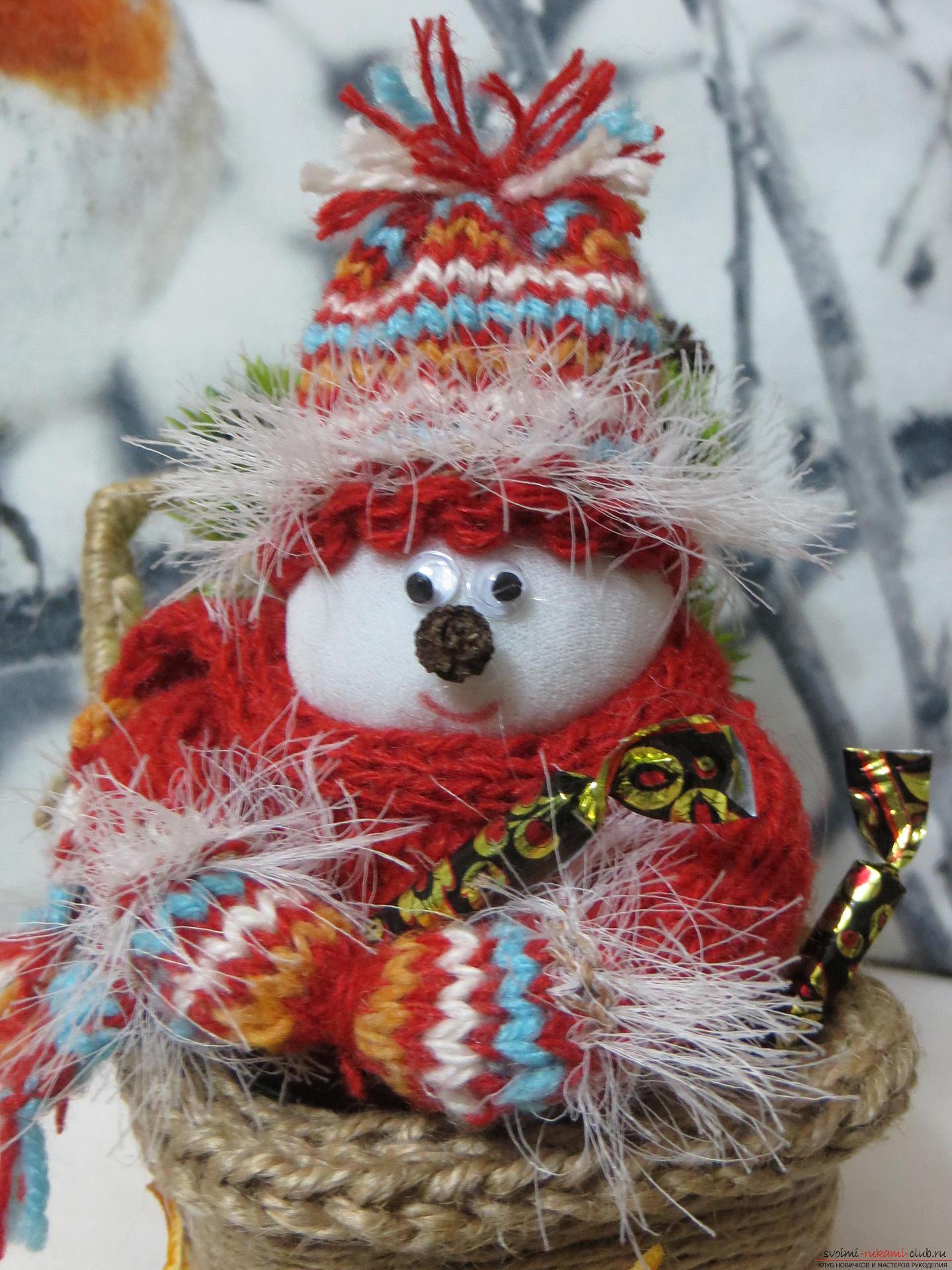 Снеговик из меха своими руками фото 240