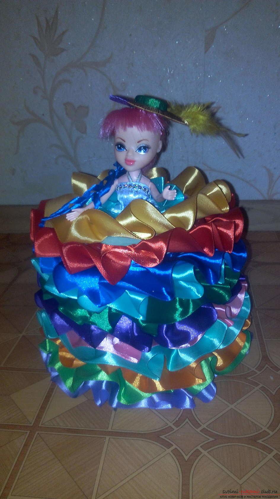 Платья для кукол своими руками из лент