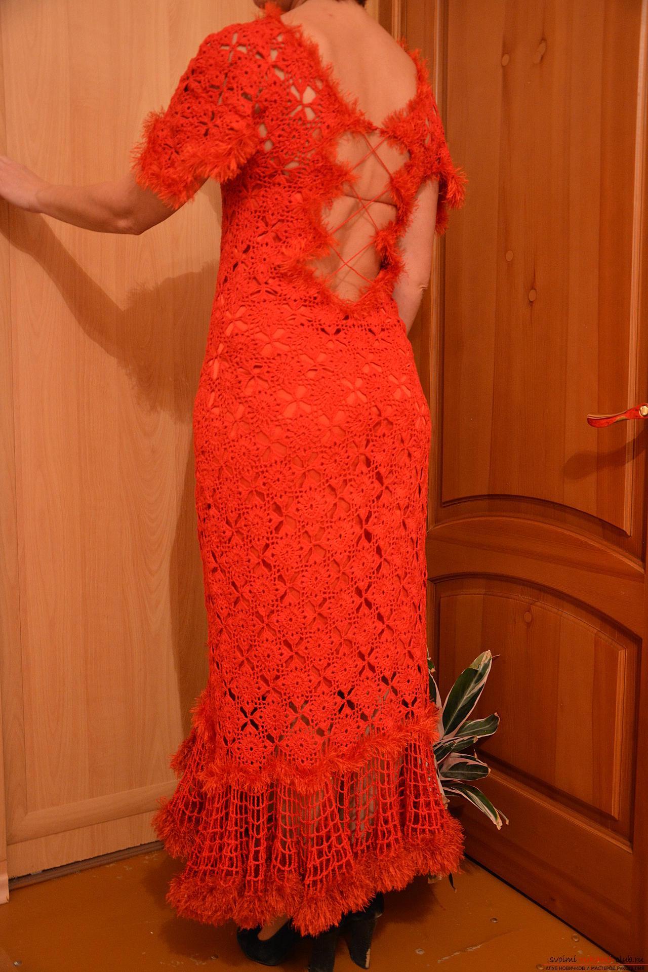 Вечерние платья крючком фото и схемы
