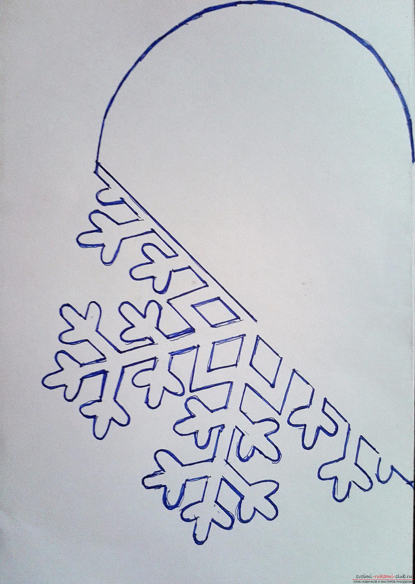 Снежинки из бумаги своими руками фото легко
