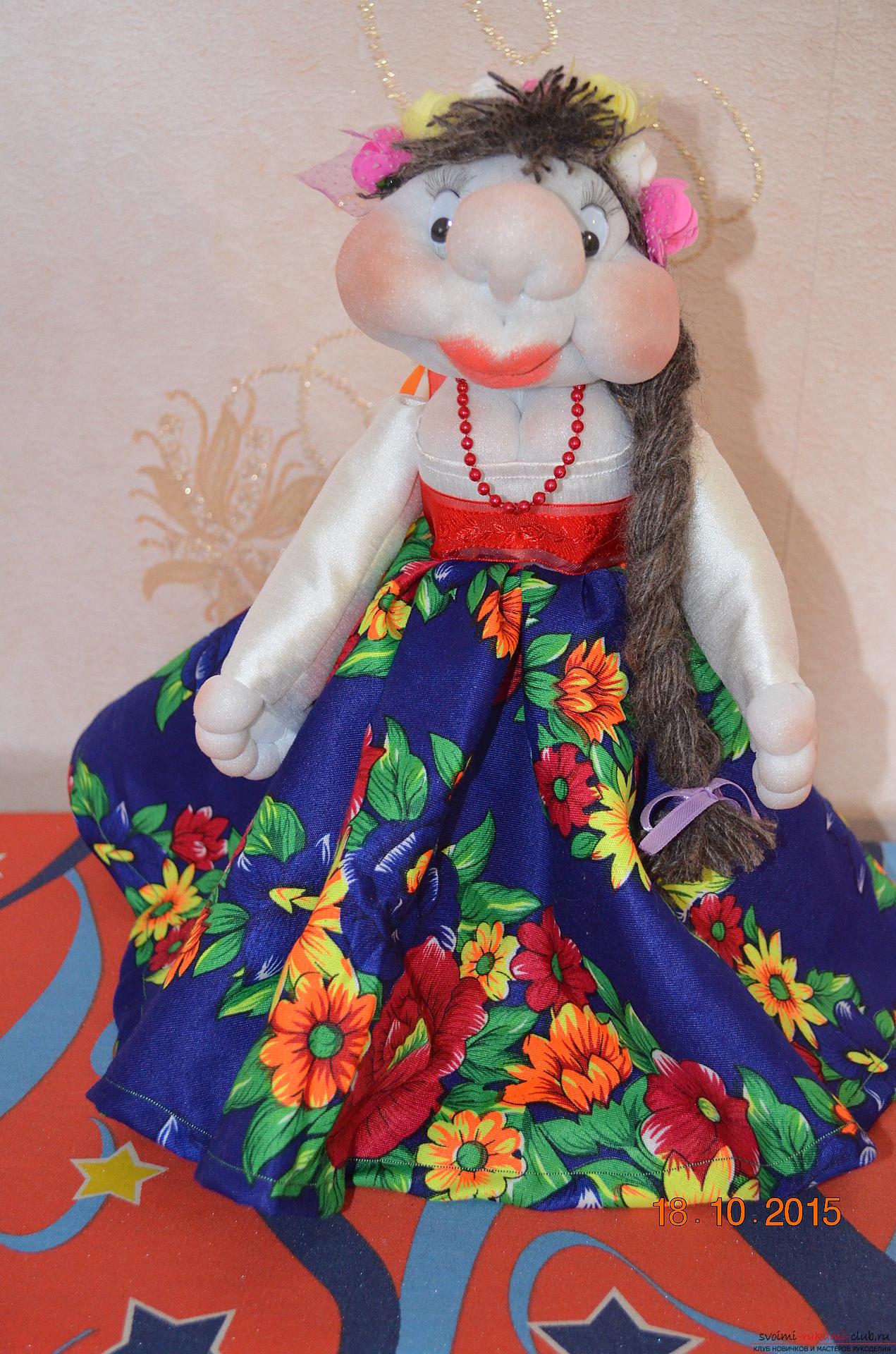 Кукла набивная из капрона. Фото №1