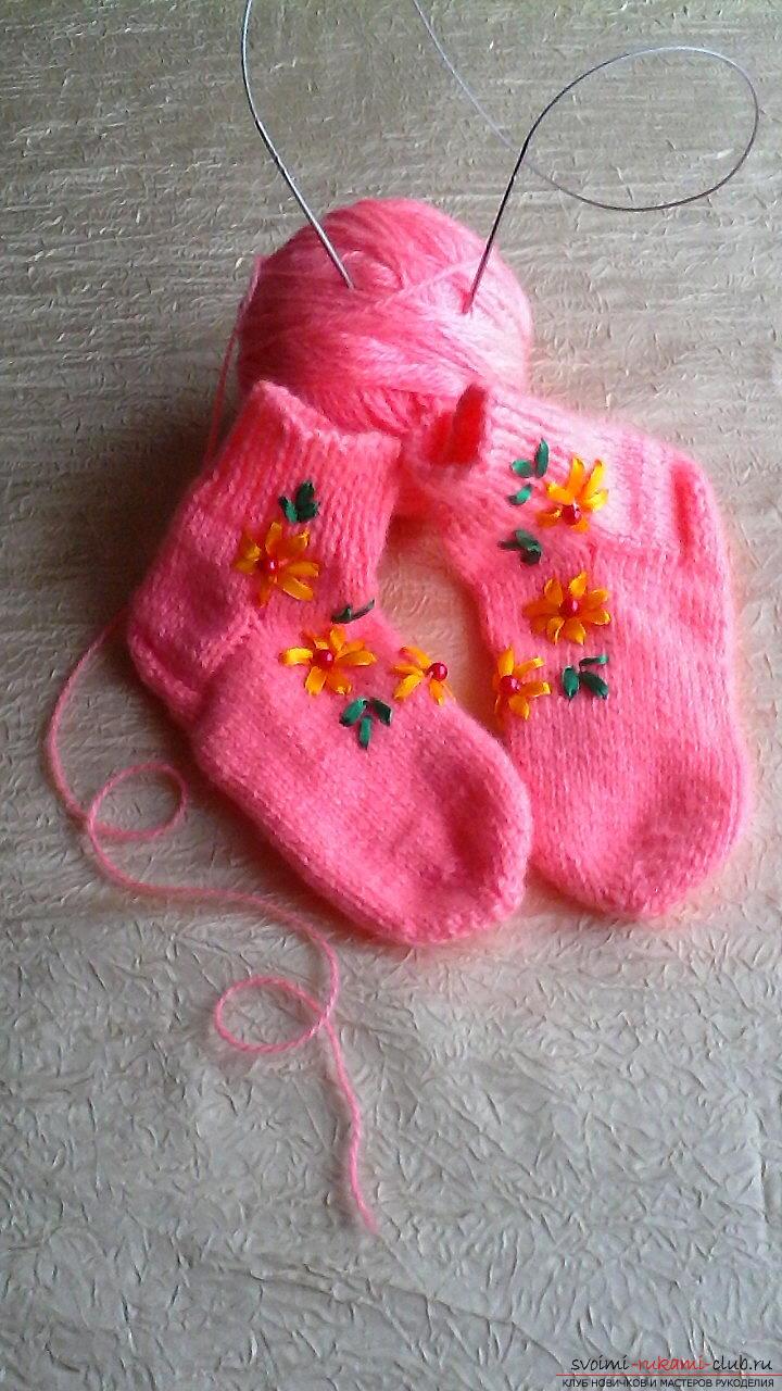 Вязаные носочки своими руками 50