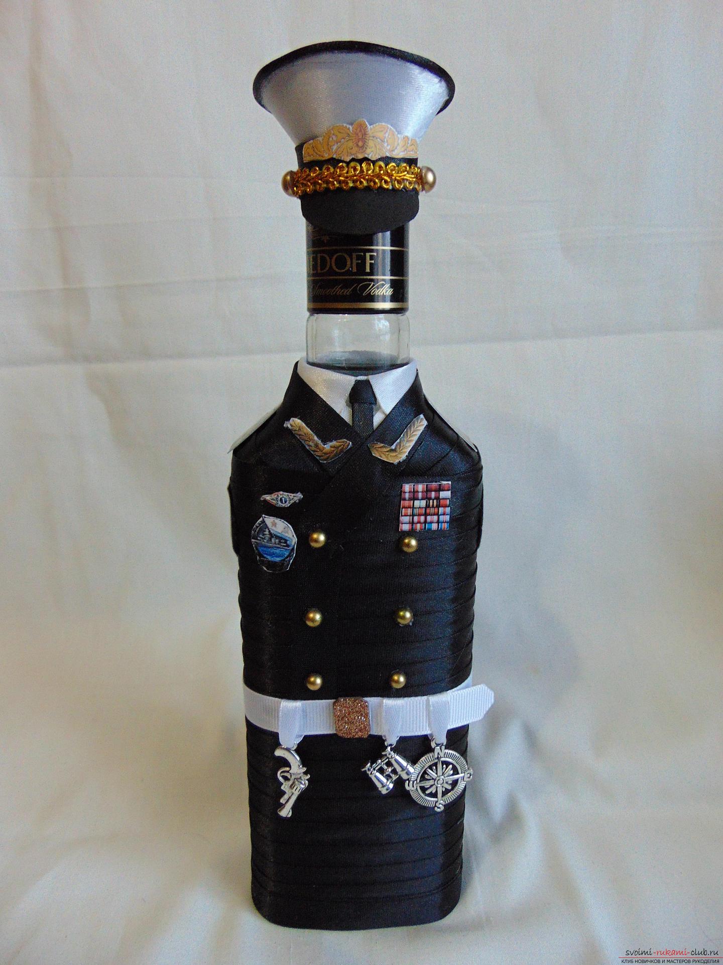 Бутылки своими руками к 23 февраля