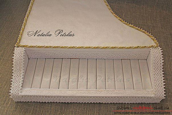 Мастер-класс: рояль из конфет. Фото №15
