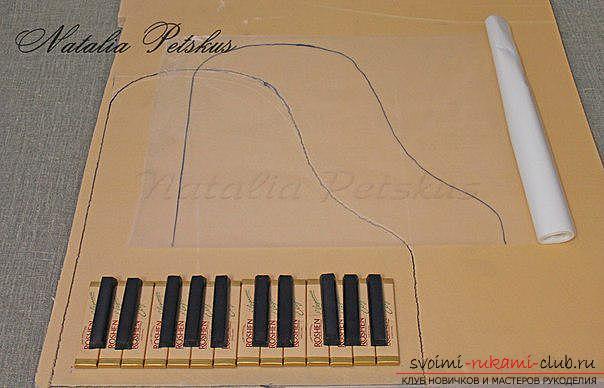 Мастер-класс: рояль из конфет. Фото №9