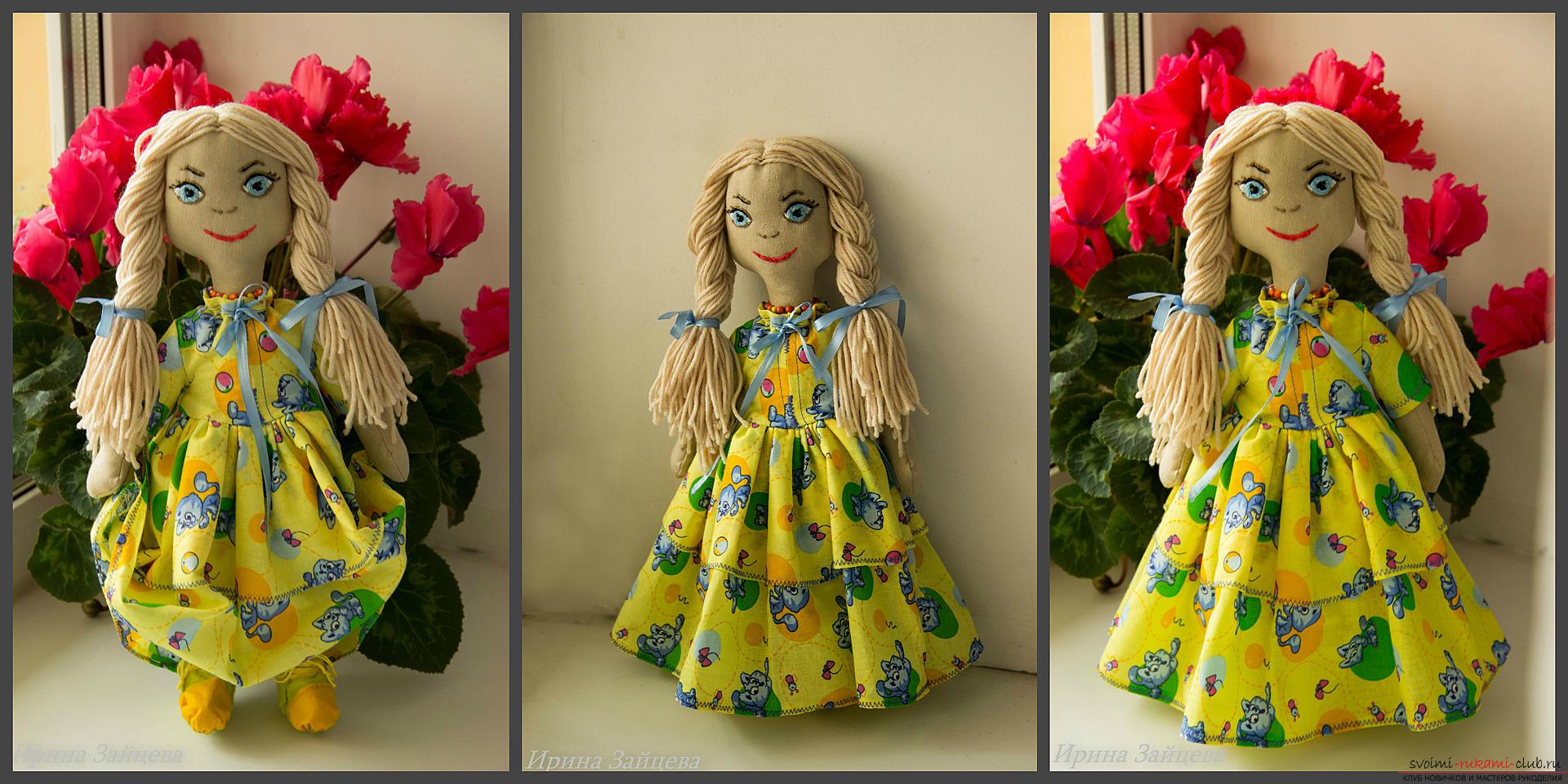 Разные выкройки текстильных кукол