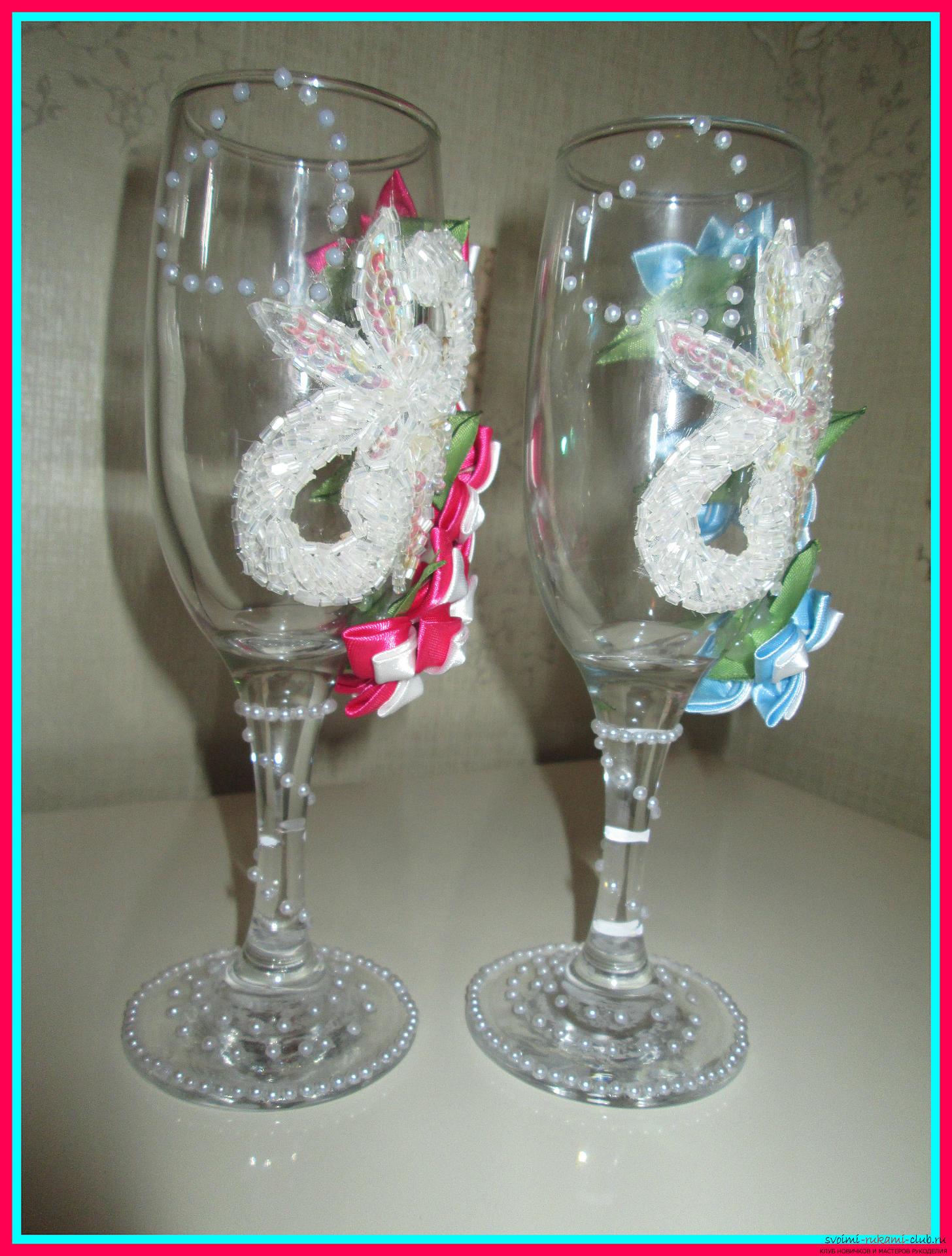 Своими руками бутылку с шампанским для свадьбы 379