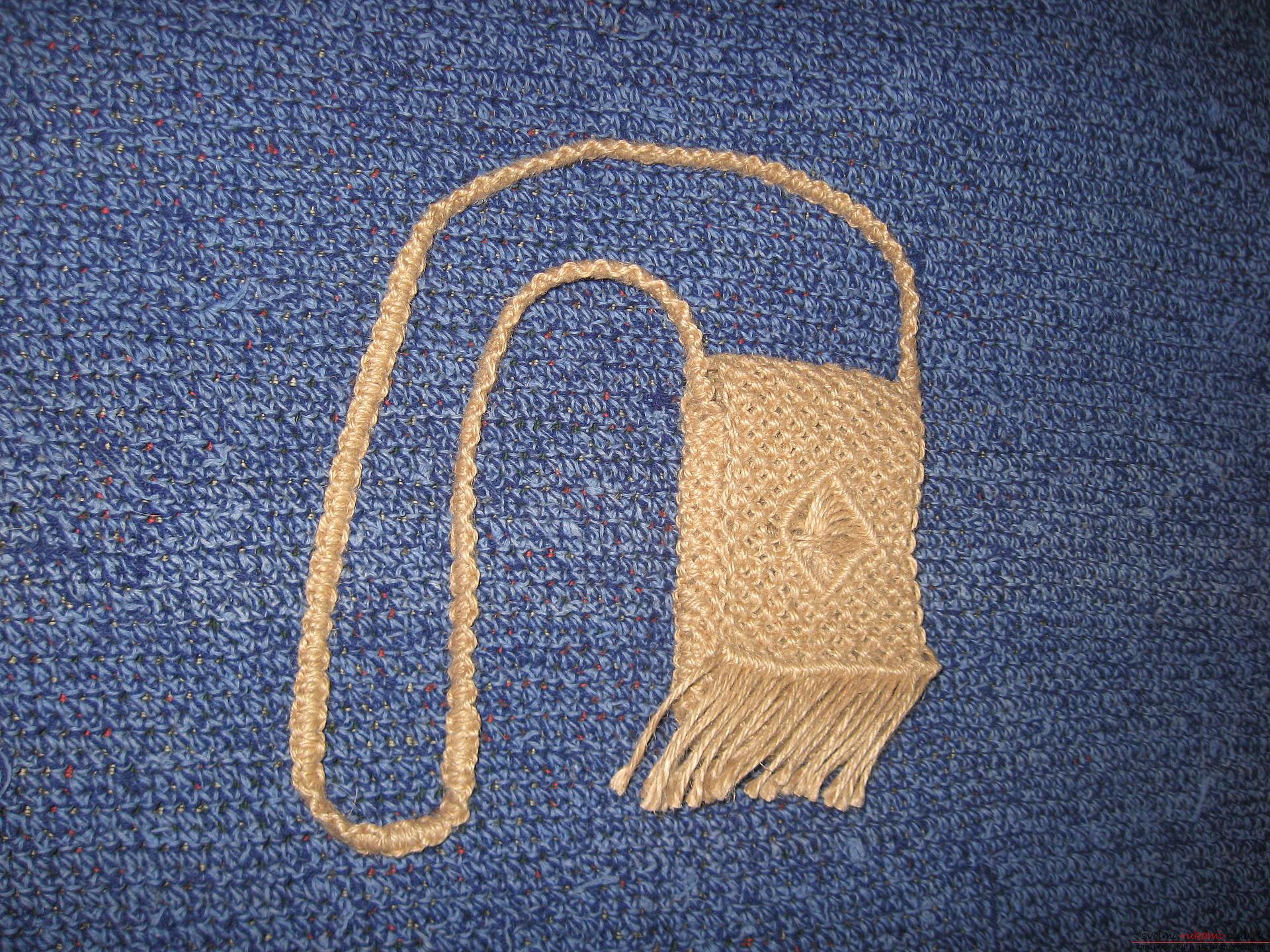 Макраме схемы фото сумок